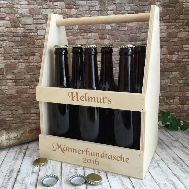 Flaschenträger aus Holz