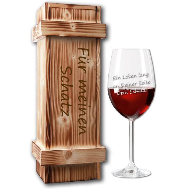 Graviertes Weinglas